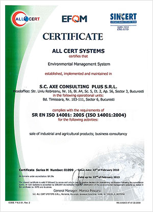 Certificare ISO 14001:2005